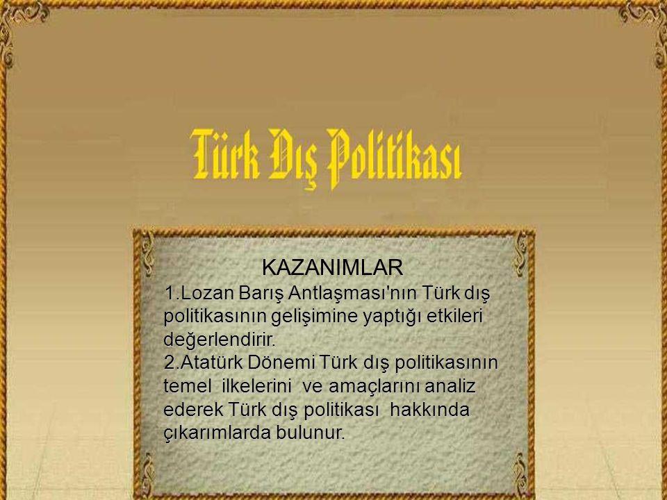 türk dış politikasının temel konuları by