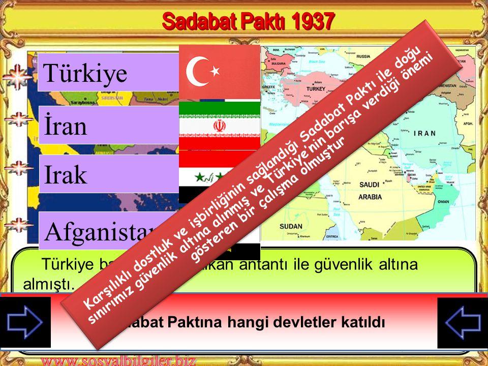 Sadabat Paktına hangi devletler katıldı