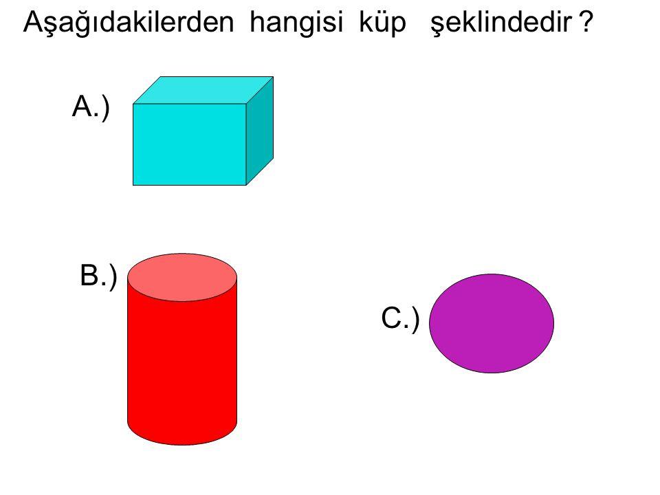 Aşağıdakilerden hangisi küp şeklindedir