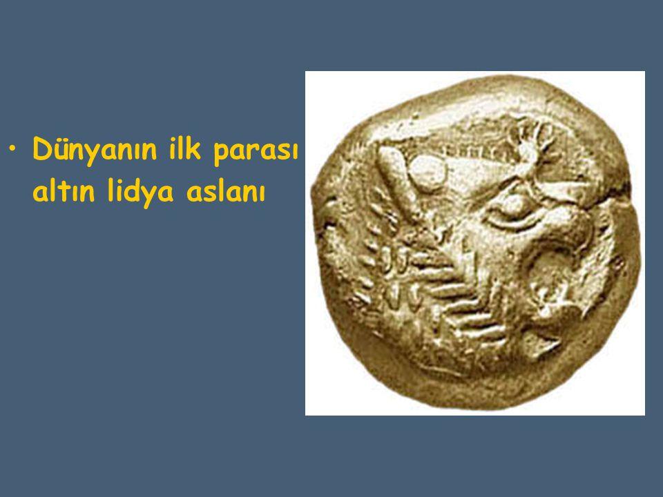 Dünyanın ilk parası altın lidya aslanı