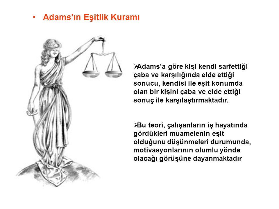 Adams'ın Eşitlik Kuramı