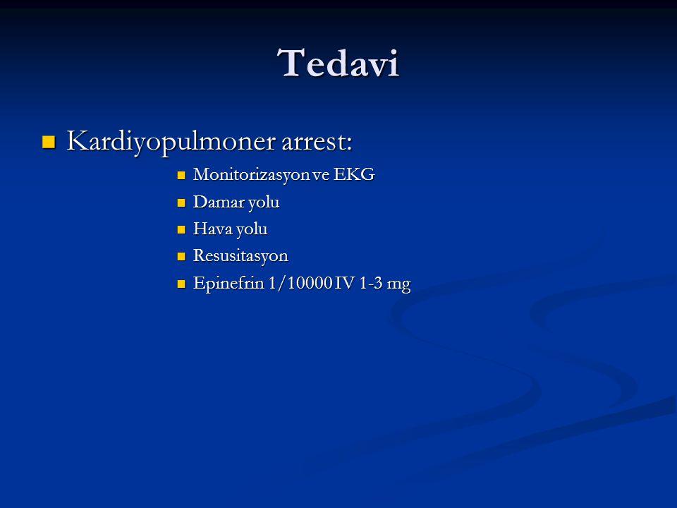 Tedavi Kardiyopulmoner arrest: Monitorizasyon ve EKG Damar yolu