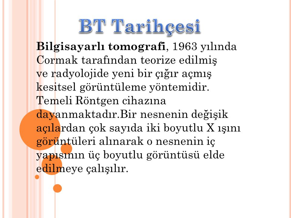 BT Tarihçesi