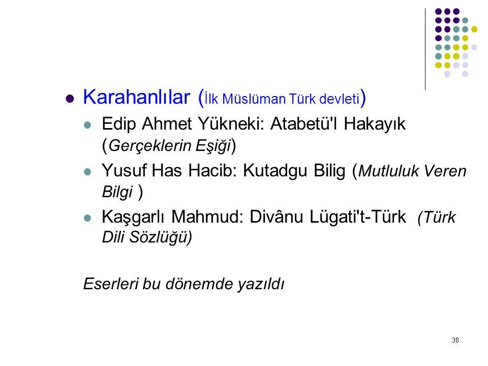 Karahanlılar (İlk Müslüman Türk devleti)