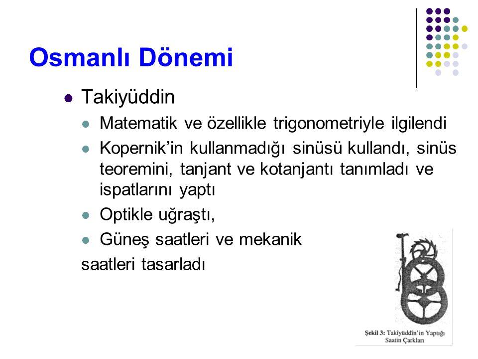 Osmanlı Dönemi Takiyüddin