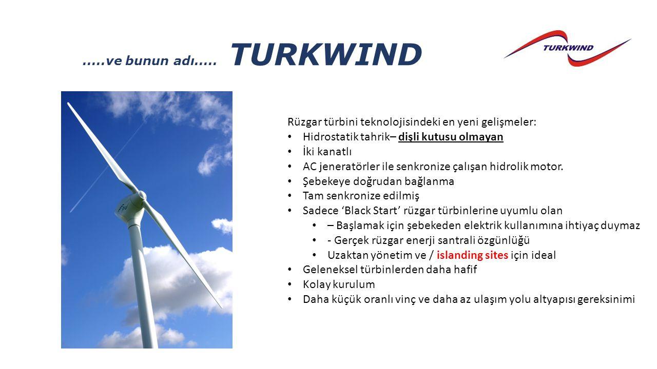 .....ve bunun adı..... TURKWIND Rüzgar türbini teknolojisindeki en yeni gelişmeler: Hidrostatik tahrik– dişli kutusu olmayan.