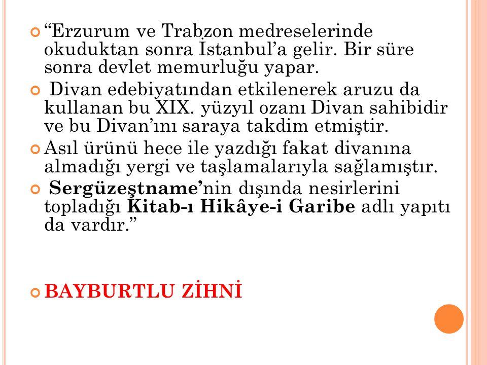 Erzurum ve Trabzon medreselerinde okuduktan sonra İstanbul'a gelir