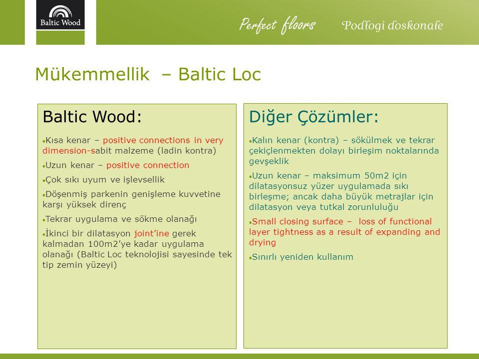 Perfect floors Mükemmellik – Baltic Loc Baltic Wood: Diğer Çözümler: