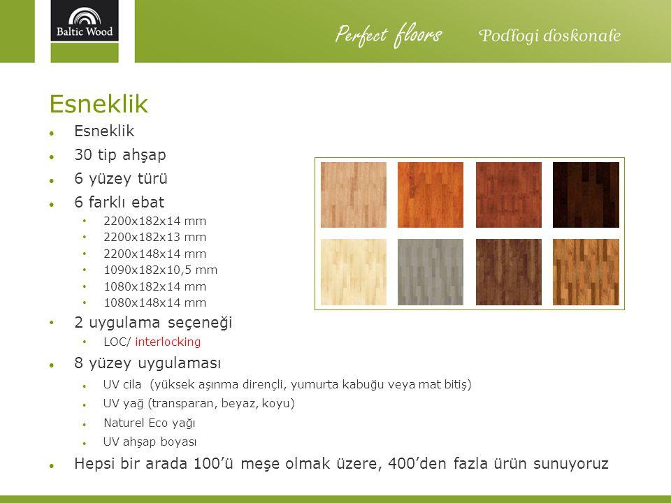 Perfect floors Esneklik Esneklik 30 tip ahşap 6 yüzey türü