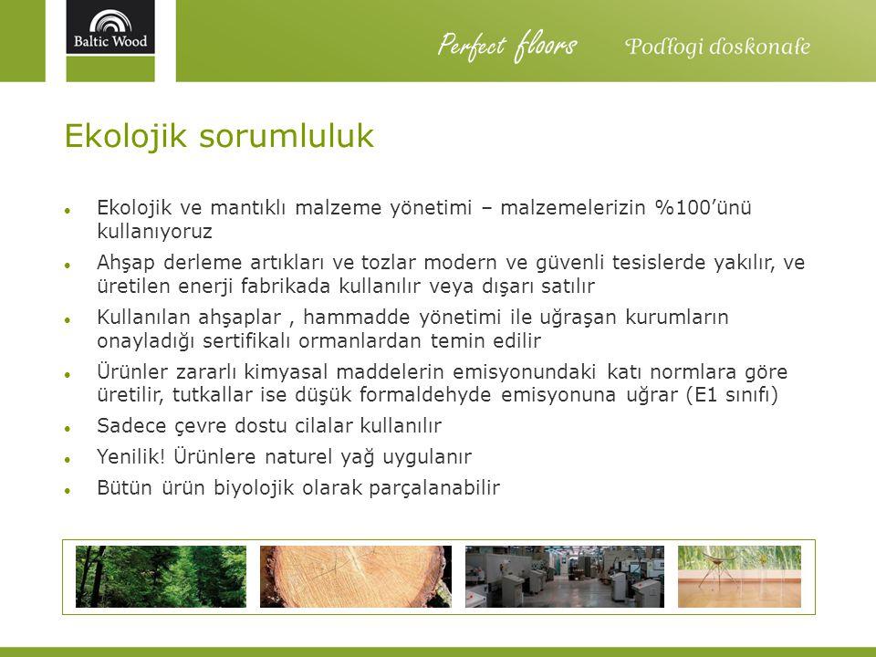 Perfect floors Ekolojik sorumluluk