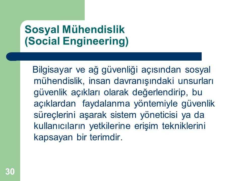 Sosyal Mühendislik (Social Engineering)