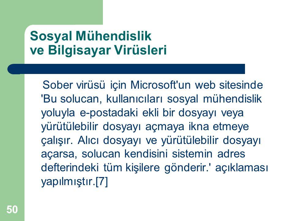 Sosyal Mühendislik ve Bilgisayar Virüsleri