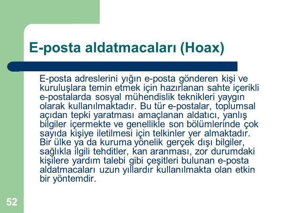 E-posta aldatmacaları (Hoax)