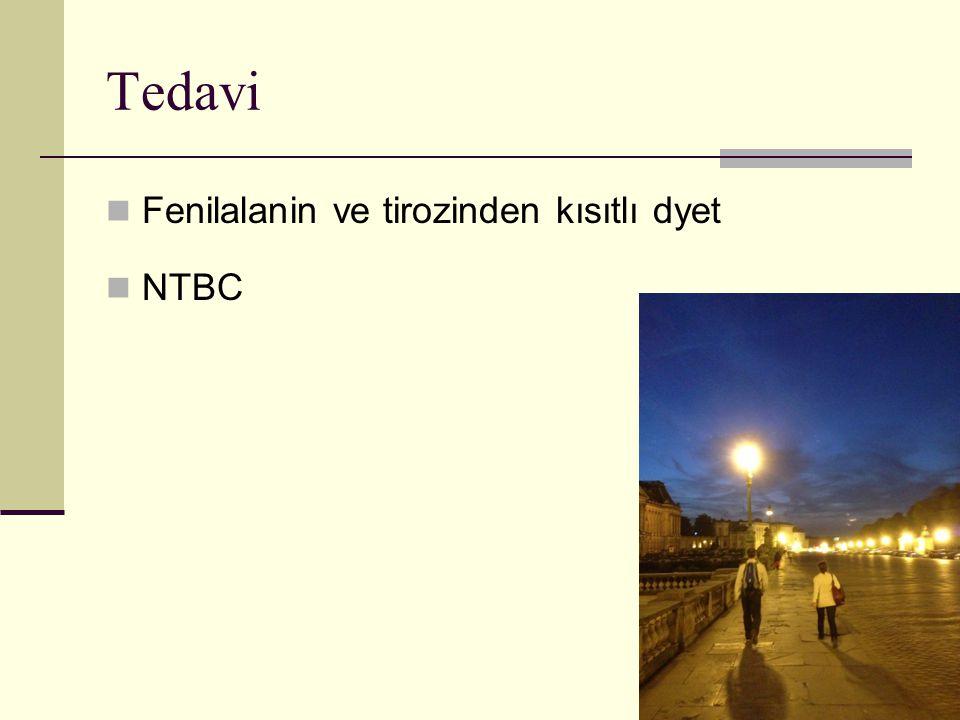Tedavi Fenilalanin ve tirozinden kısıtlı dyet NTBC