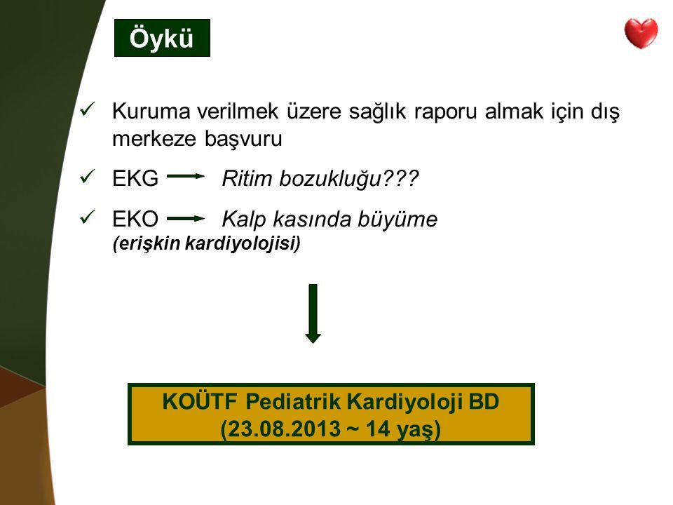 KOÜTF Pediatrik Kardiyoloji BD (23.08.2013 ~ 14 yaş)