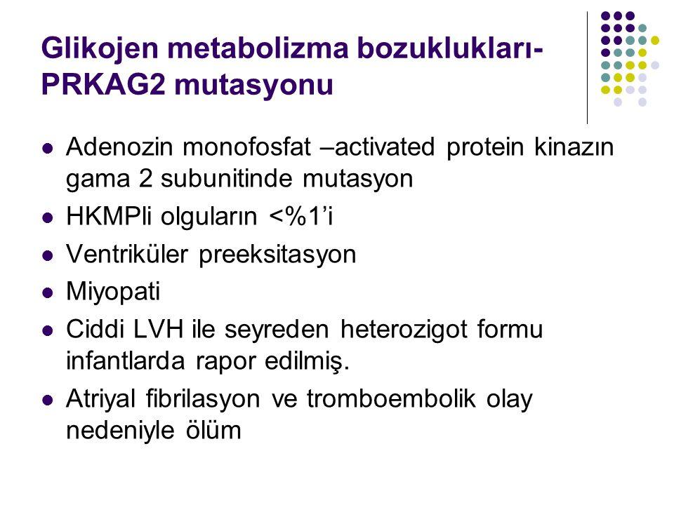 Glikojen metabolizma bozuklukları-PRKAG2 mutasyonu