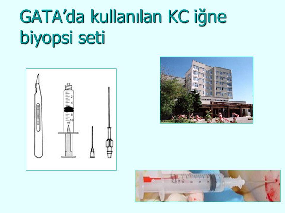 GATA'da kullanılan KC iğne biyopsi seti