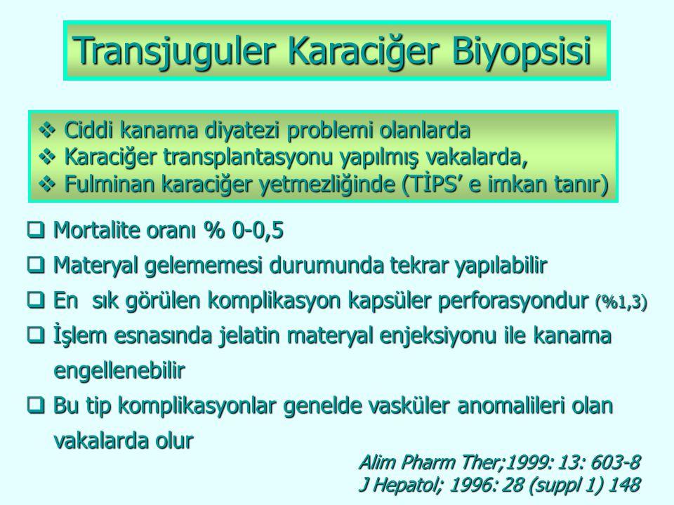 Transjuguler Karaciğer Biyopsisi