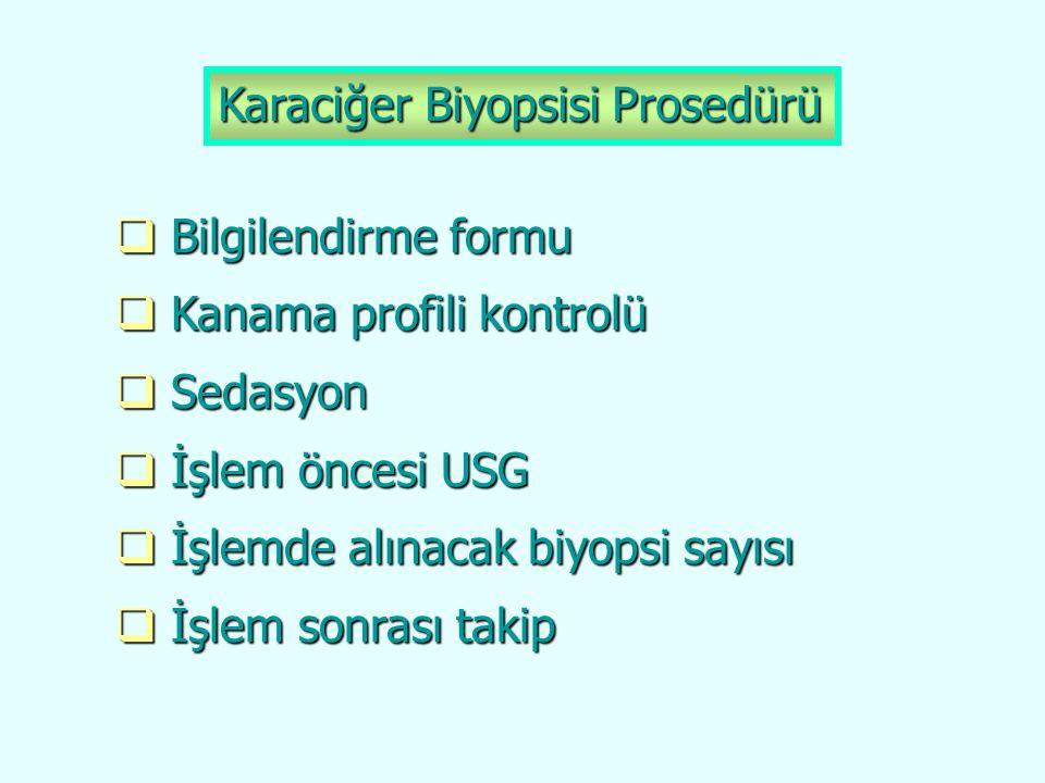 Karaciğer Biyopsisi Prosedürü