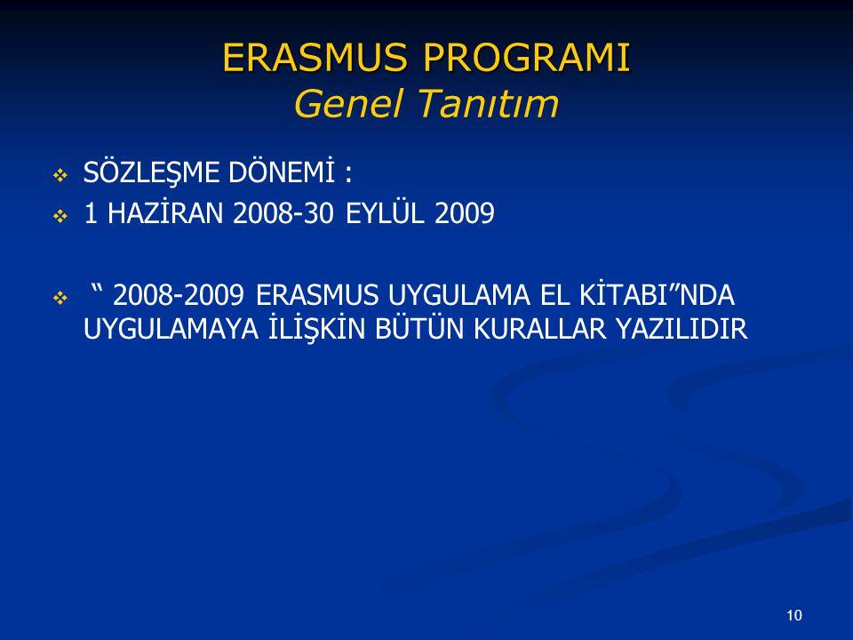 ERASMUS PROGRAMI Genel Tanıtım