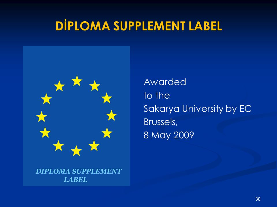 DİPLOMA SUPPLEMENT LABEL