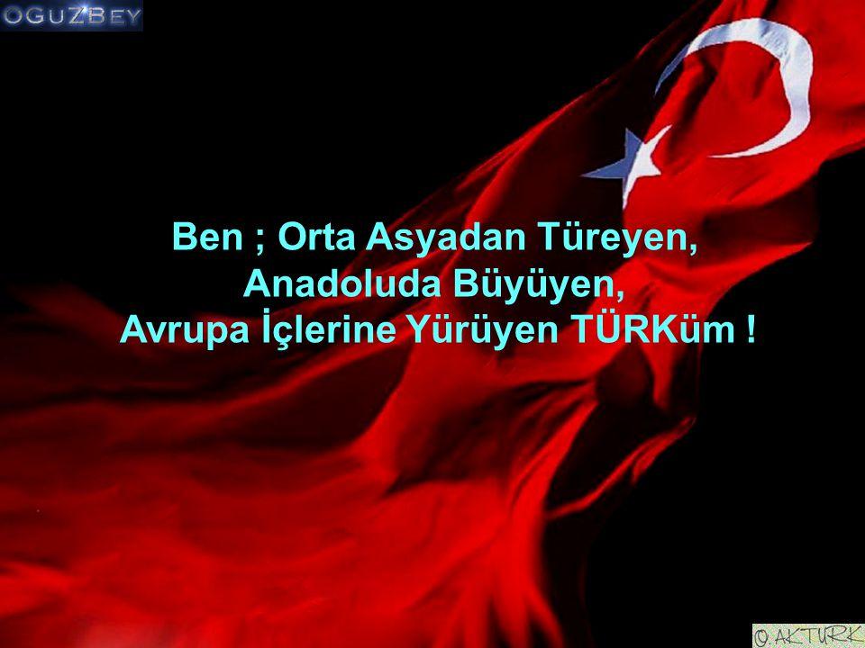 Ben ; Orta Asyadan Türeyen, Avrupa İçlerine Yürüyen TÜRKüm !