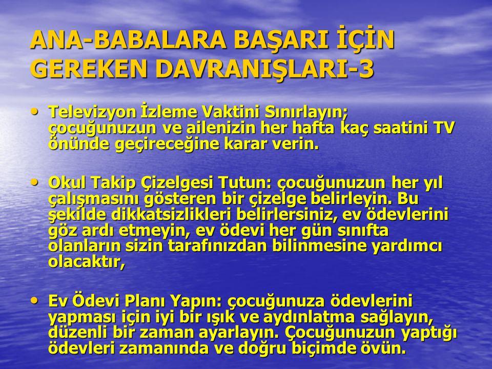 ANA-BABALARA BAŞARI İÇİN GEREKEN DAVRANIŞLARI-3