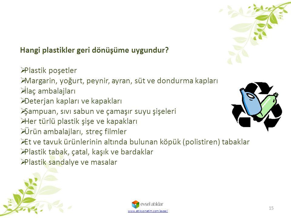 Hangi plastikler geri dönüşüme uygundur Plastik poşetler