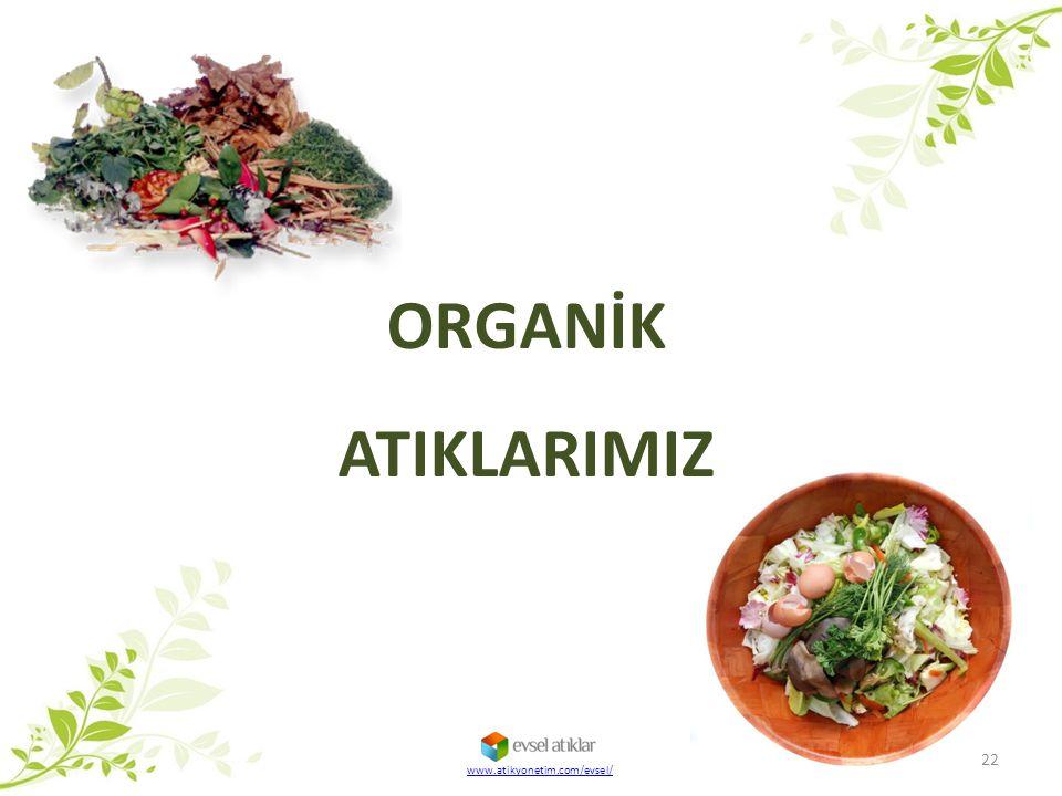 ORGANİK ATIKLARIMIZ www.atikyonetim.com/evsel/
