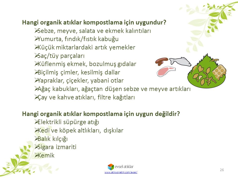 Hangi organik atıklar kompostlama için uygundur