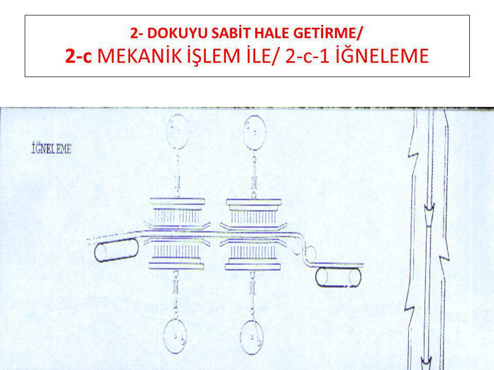 2- DOKUYU SABİT HALE GETİRME/ 2-c MEKANİK İŞLEM İLE/ 2-c-1 İĞNELEME