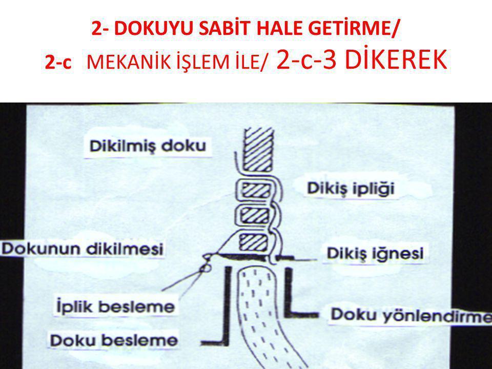 2- DOKUYU SABİT HALE GETİRME/ 2-c MEKANİK İŞLEM İLE/ 2-c-3 DİKEREK