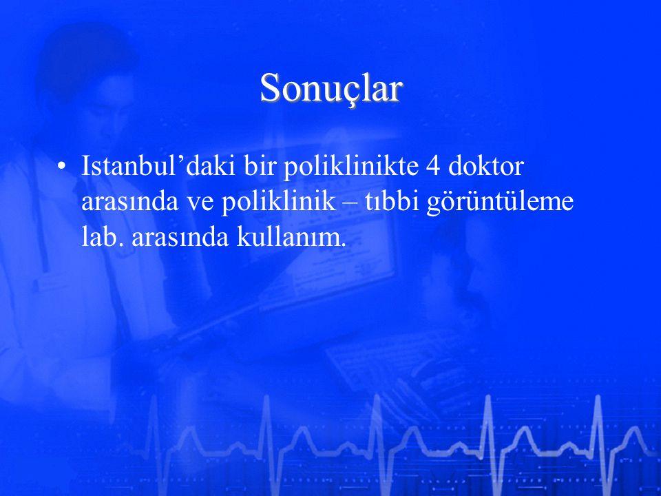 Sonuçlar Istanbul'daki bir poliklinikte 4 doktor arasında ve poliklinik – tıbbi görüntüleme lab.