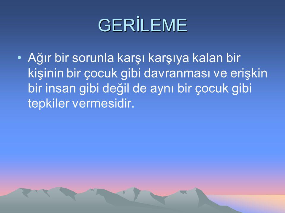 GERİLEME