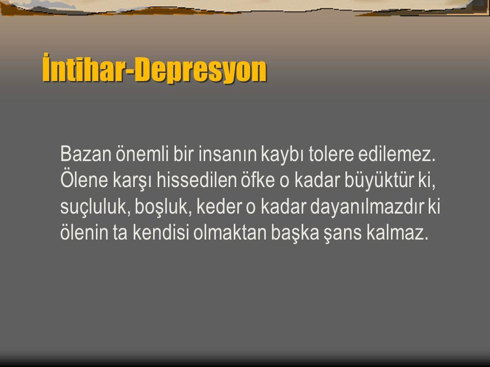 İntihar-Depresyon