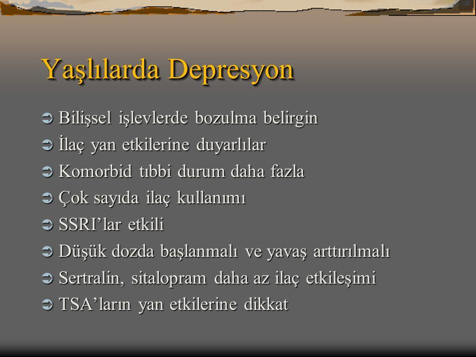 Yaşlılarda Depresyon Bilişsel işlevlerde bozulma belirgin