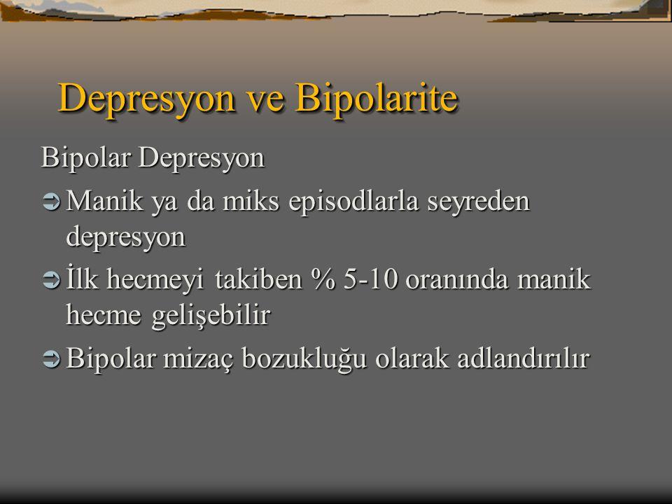 Depresyon ve Bipolarite