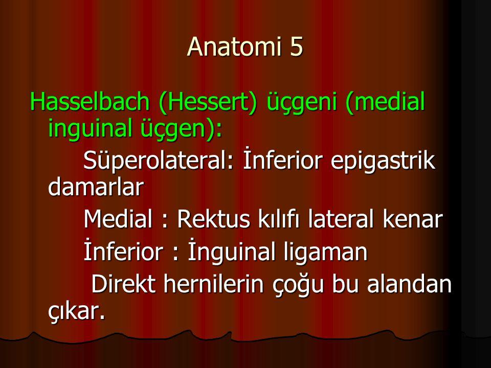 Anatomi 5 Hasselbach (Hessert) üçgeni (medial inguinal üçgen):