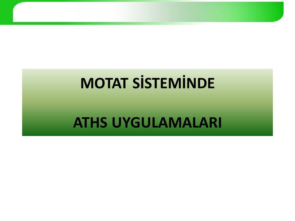 MOTAT SİSTEMİNDE ATHS UYGULAMALARI