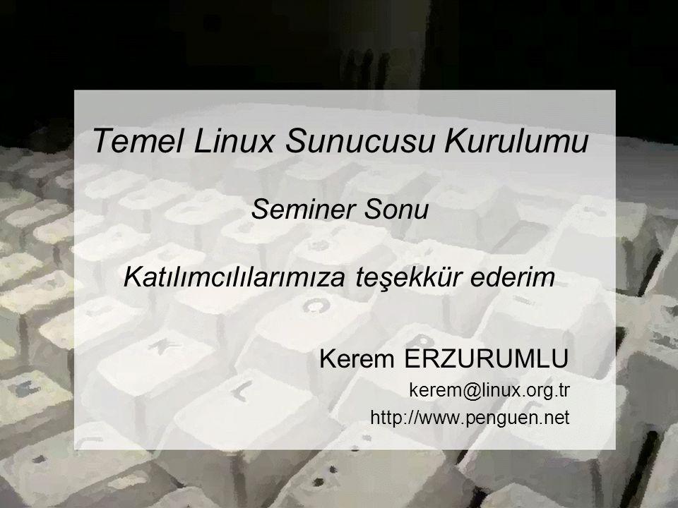 Kerem ERZURUMLU kerem@linux.org.tr http://www.penguen.net