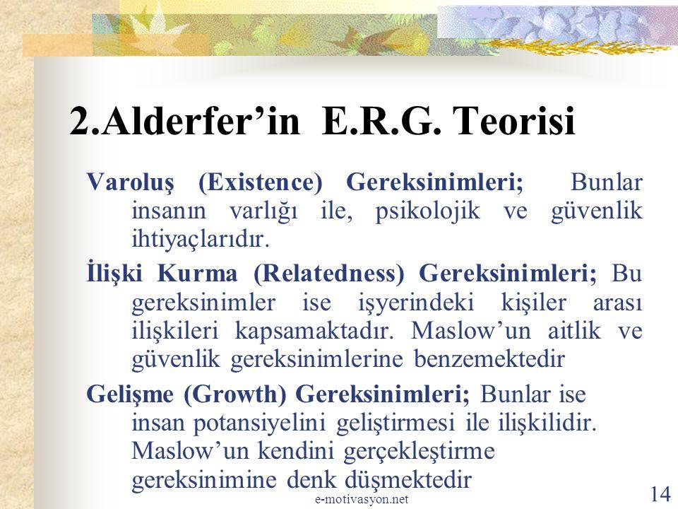 2.Alderfer'in E.R.G. Teorisi