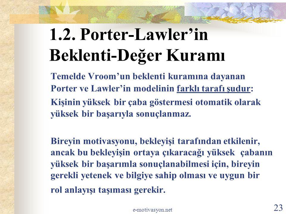 1.2. Porter-Lawler'in Beklenti-Değer Kuramı