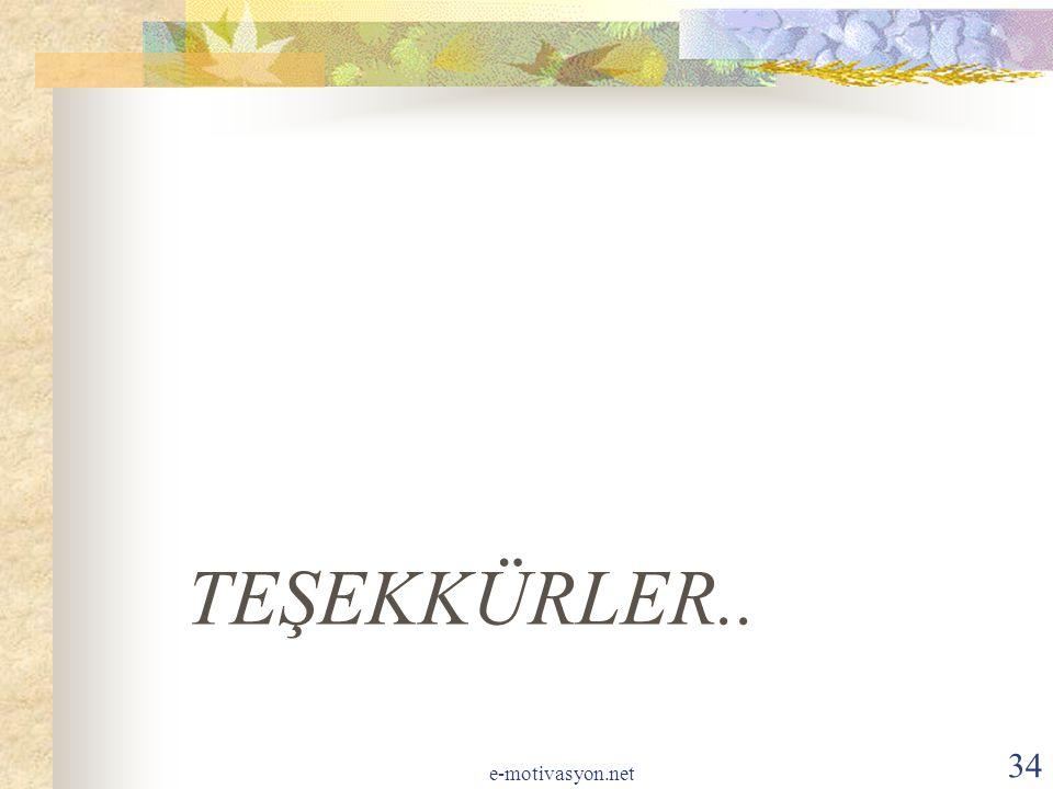 TEŞEKKÜRLER.. e-motivasyon.net