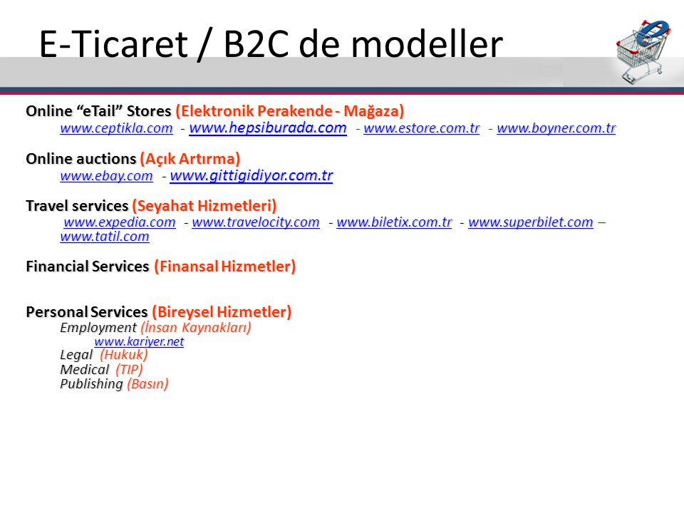 E-Ticaret / B2C de modeller