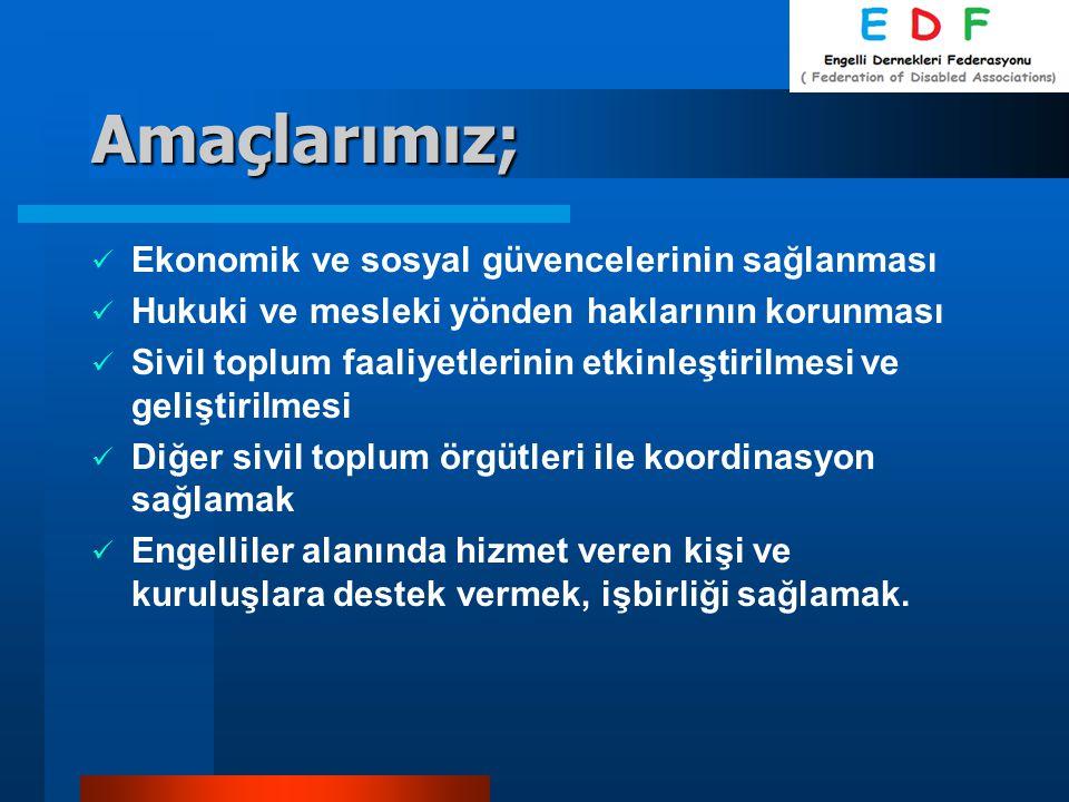Amaçlarımız; Ekonomik ve sosyal güvencelerinin sağlanması