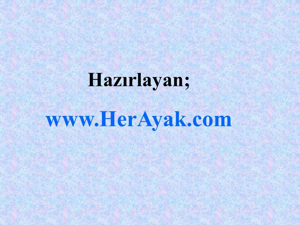 Hazırlayan; www.HerAyak.com