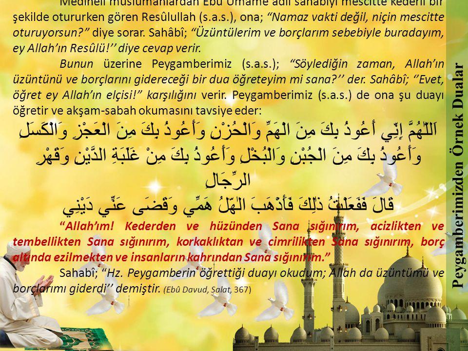 Peygamberimizden Örnek Dualar