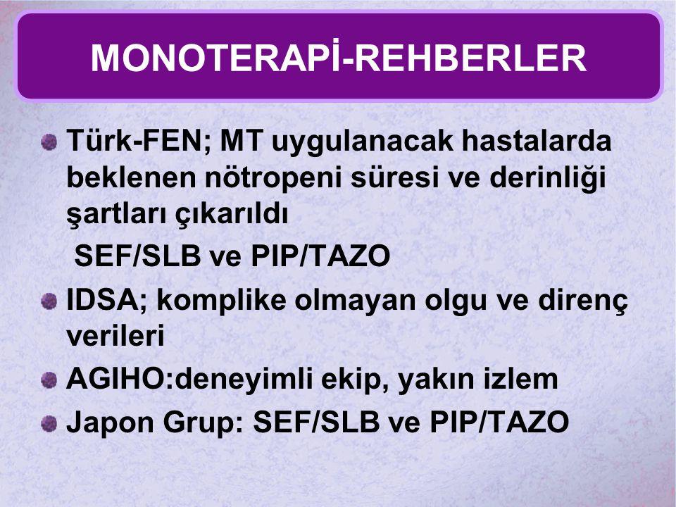 MONOTERAPİ-REHBERLER