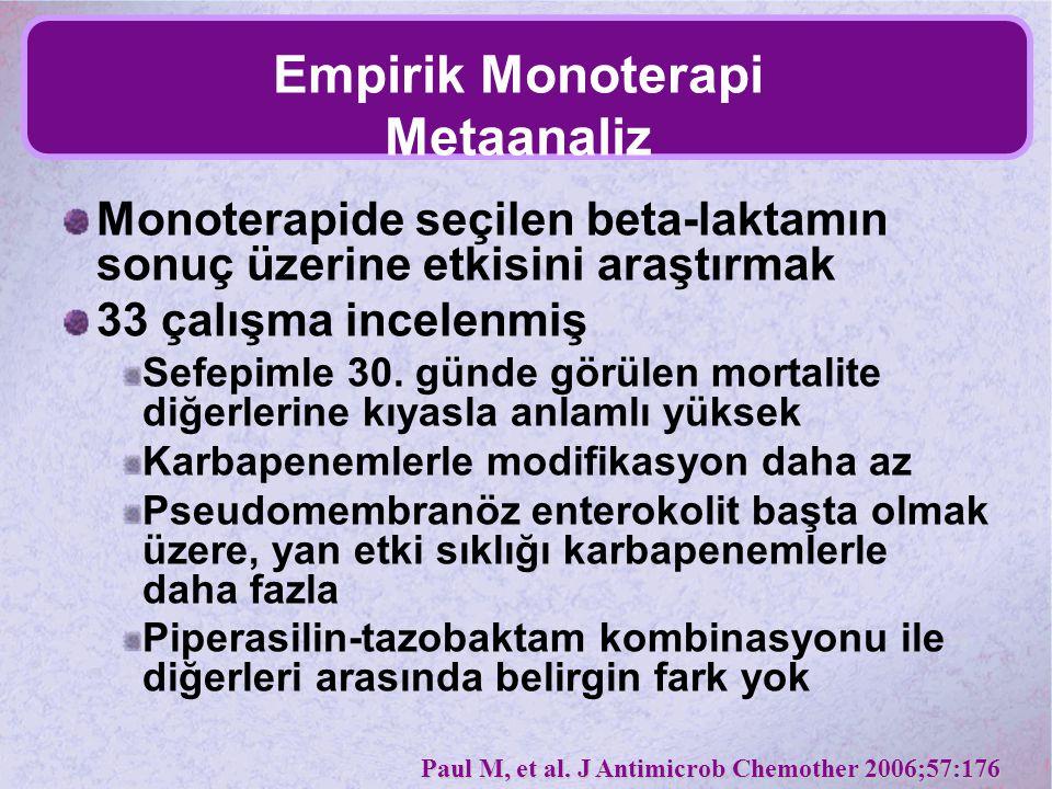 Empirik Monoterapi Metaanaliz