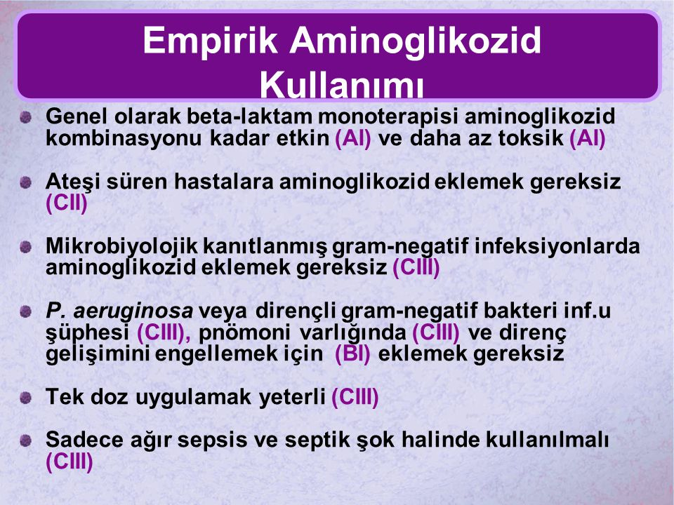 Empirik Aminoglikozid Kullanımı